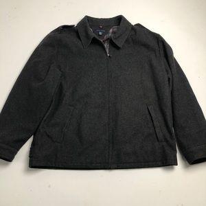 New Tommy Hilfiger Gray Wool Jacket Mens XXL